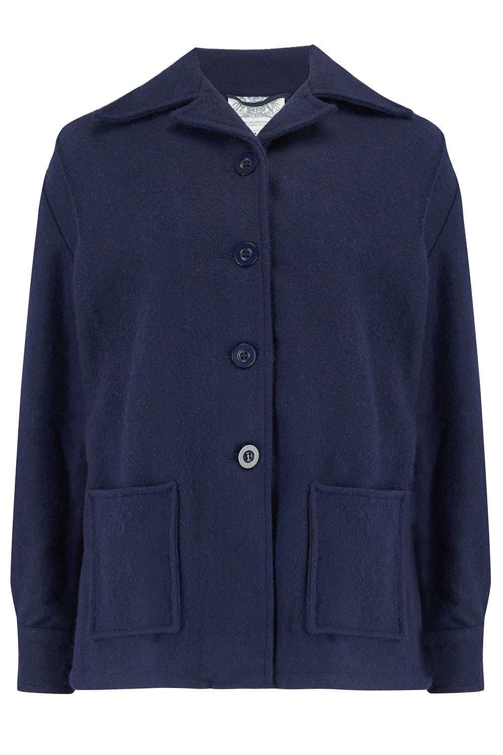 1940s Style Coats and Jackets for Sale Pearl Pendleton Style 49er Jacket in Navy Wool Classic 1940s Style £85.00 AT vintagedancer.com