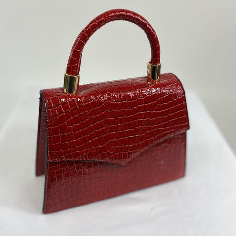 Classic Vintage Penny  Handbag In Red