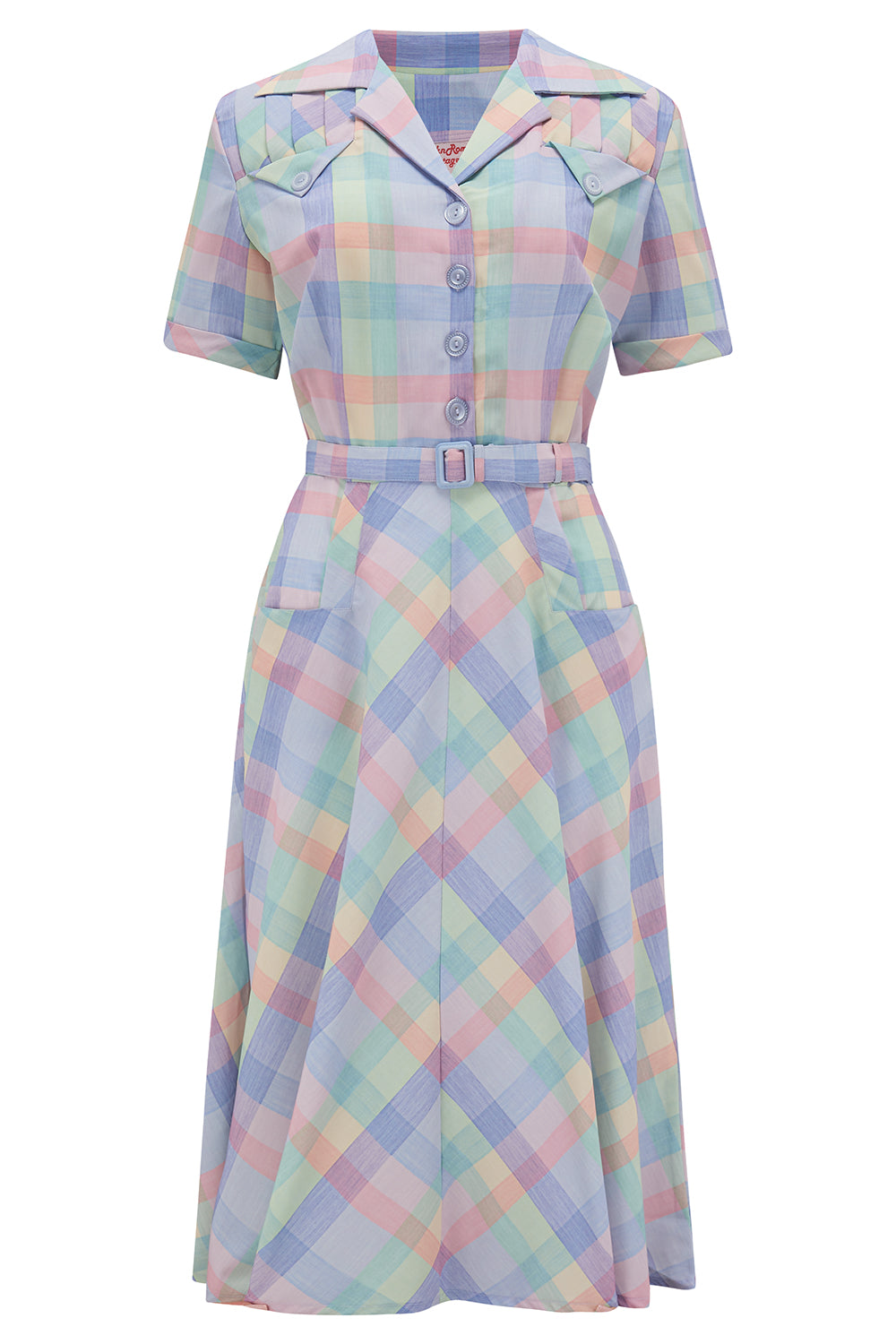 1950s Style Clothing & Fashion The Polly Dress in Summer Check Print True  Authentic 1950s Vintage Style £49.00 AT vintagedancer.com