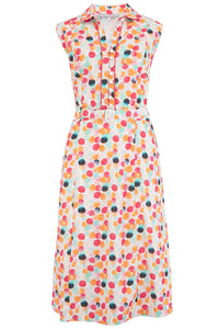 "Rock n Romance Pre-Launch.. ""Margot"" Dress in Bubblegum Print, Perfect 1950s Style - RocknRomance Clothing"