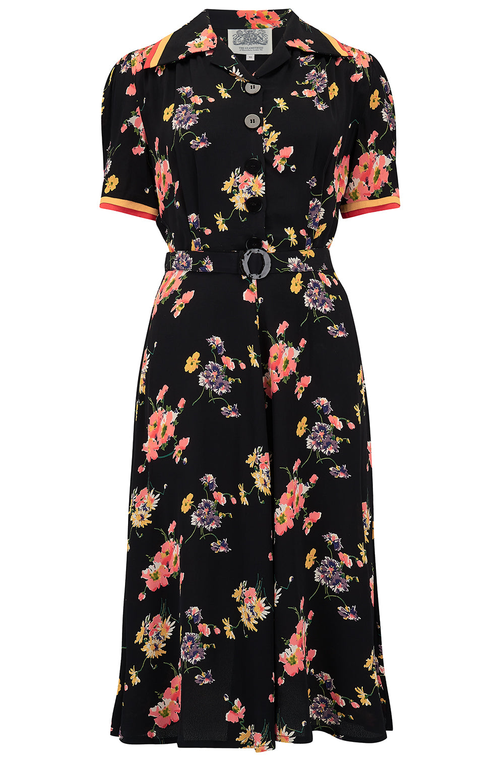 1940s Dress Styles Roma Dress in Mayflower Authentic  Classic 1940s Vintage Inspired Style £79.00 AT vintagedancer.com