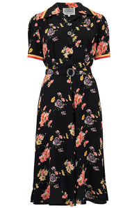 """Roma"" Dress in Mayflower, Authentic & Classic 1940's Vintage Inspired Style"