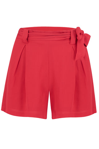 The Seamstress Of Bloomsbury Emma vintage styled Tap Shorts in 40's Red - RocknRomance Clothing