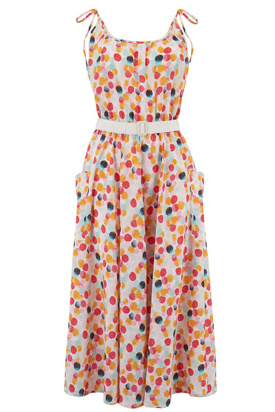 "The ""Suzy"" Sun Dress in Bubblegum Print, An Easy To Wear Fun Style From The 50s - RocknRomance True 1940s & 1950s Vintage Style"