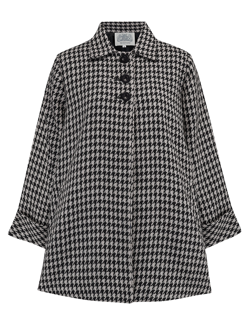 1940s Coats & Jackets Fashion History Swing Jacket in Houndstooth Vintage 1940s Cape Style Inspired Over Coat £125.00 AT vintagedancer.com