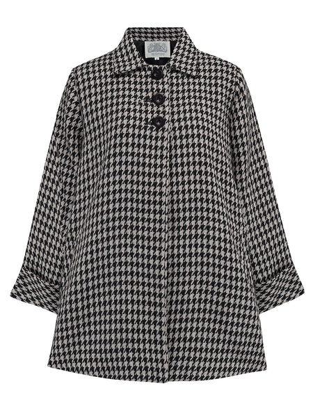 Swing Jacket in Houndstooth by The Seamstress of Bloomsbury, Vintage 1940s Cape Style Inspired