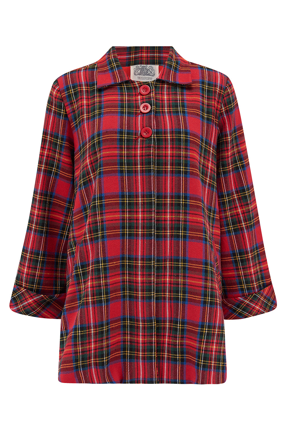 Vintage Coats & Jackets | Retro Coats and Jackets Swing Jacket in Red Tartan Check  Vintage 1940s Cape Style Inspired Over Coat £125.00 AT vintagedancer.com