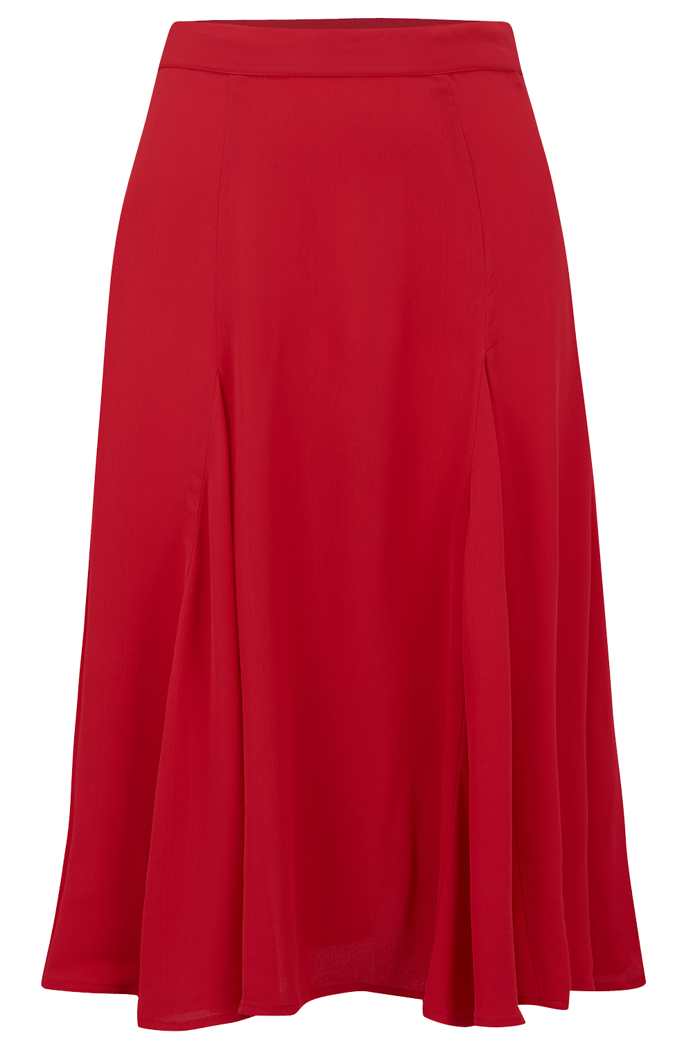 Balboa Skirt in Solid Red, Classic & Authentic 1940s Vintage Inspired Style - RocknRomance True 1940s & 1950s Vintage Style