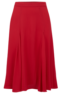 1940's Inspired Vintage Reproduction Clothing Solid Red Balboa Skirt by The Seamstress of Bloomsbury