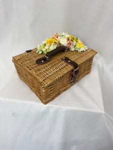 Classic Bags In Bloom Vintage Inspired Daisy Natural Basket - RocknRomance Clothing