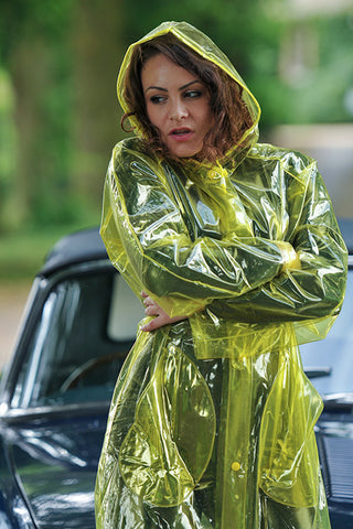 "Elements Rain Wear 1950s Style ""Classic Fashion Rain Mac"" True Vintage Style In Yellow Glass Clear - RocknRomance Clothing"
