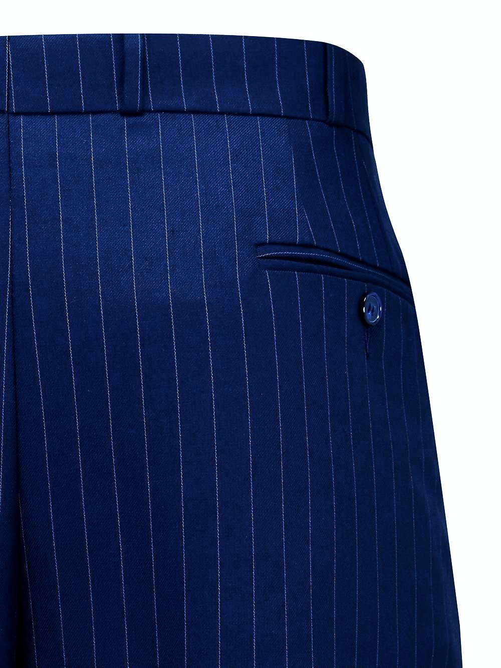 1930s Men's High Waisted Pants, Wide Leg Trousers Navy Blue with Pinstripe Oxford Bags Mens 1940s Inspired Trousers £89.00 AT vintagedancer.com