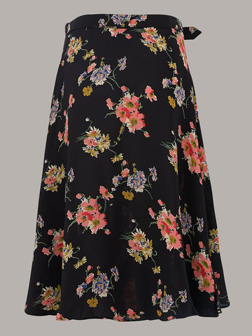 Circle Skirt in Mayflower Print