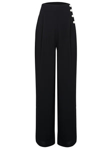 """Audrey"" Trousers  in Black by The Seamstress of Bloomsbury, Classic 1940s Vintage Inspired Style"