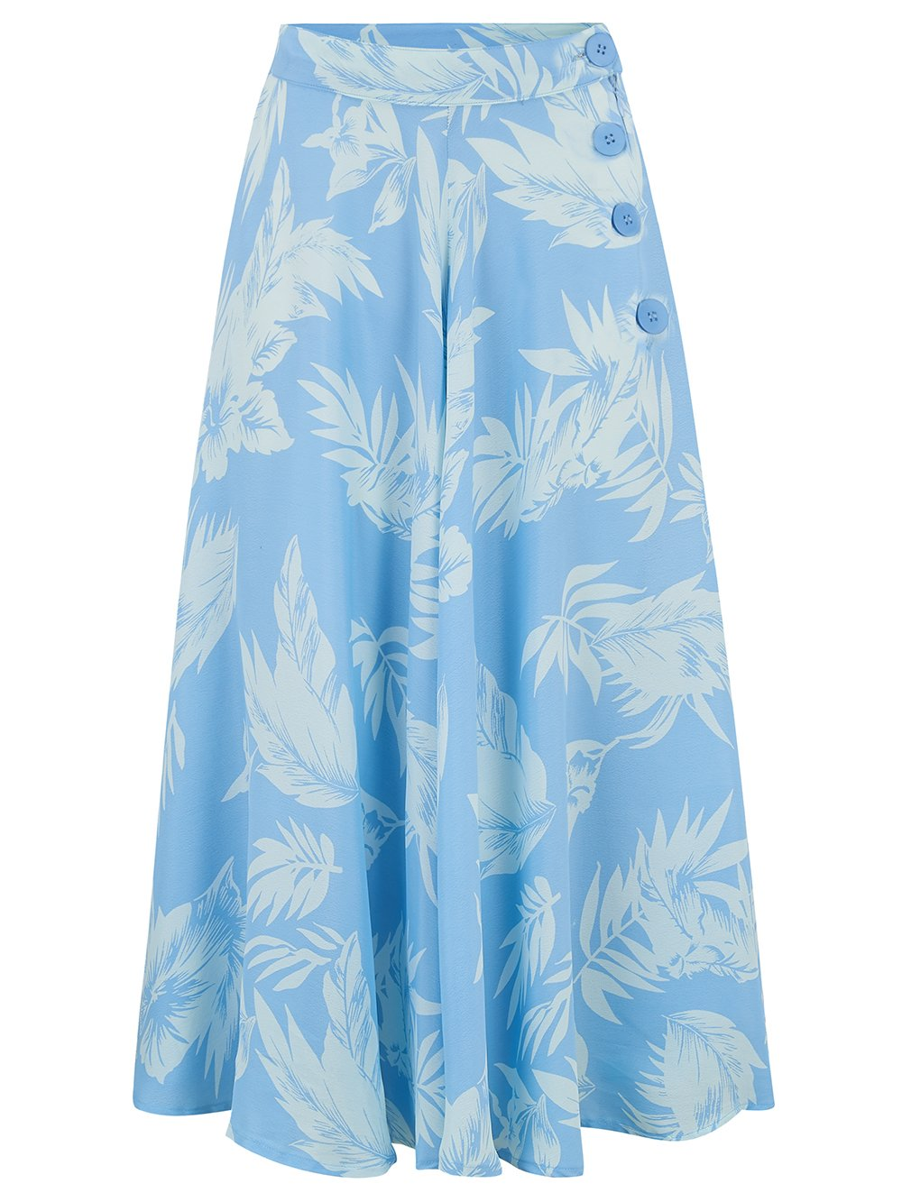 "The Seamstress Of Bloomsbury The 1940s Vintage Inspired ""Isabelle"" Skirt in Blue Hawaii by The Seamstress of Bloomsbury - RocknRomance Clothing"