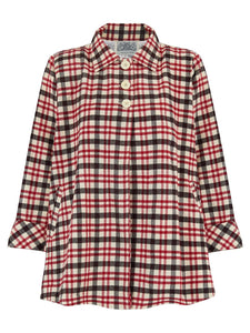 Swing Jacket in Red & Beige Check by The Seamstress of Bloomsbury, Vintage 1940s Cape Style Inspired