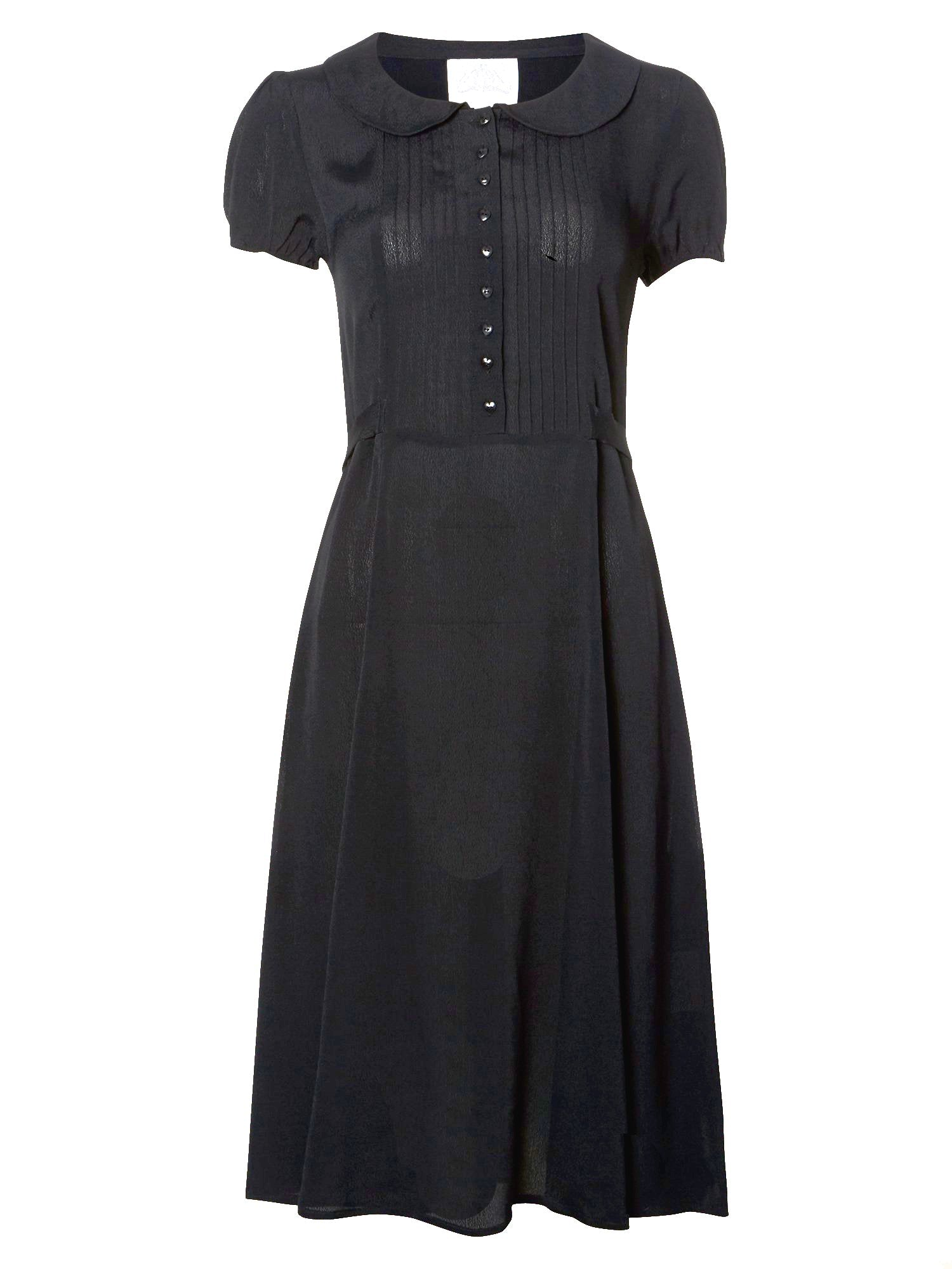 """Dorothy"" Swing Dress in Black by The Seamstress of Bloomsbury, Mid 1940s Inspired, Vintage Style"