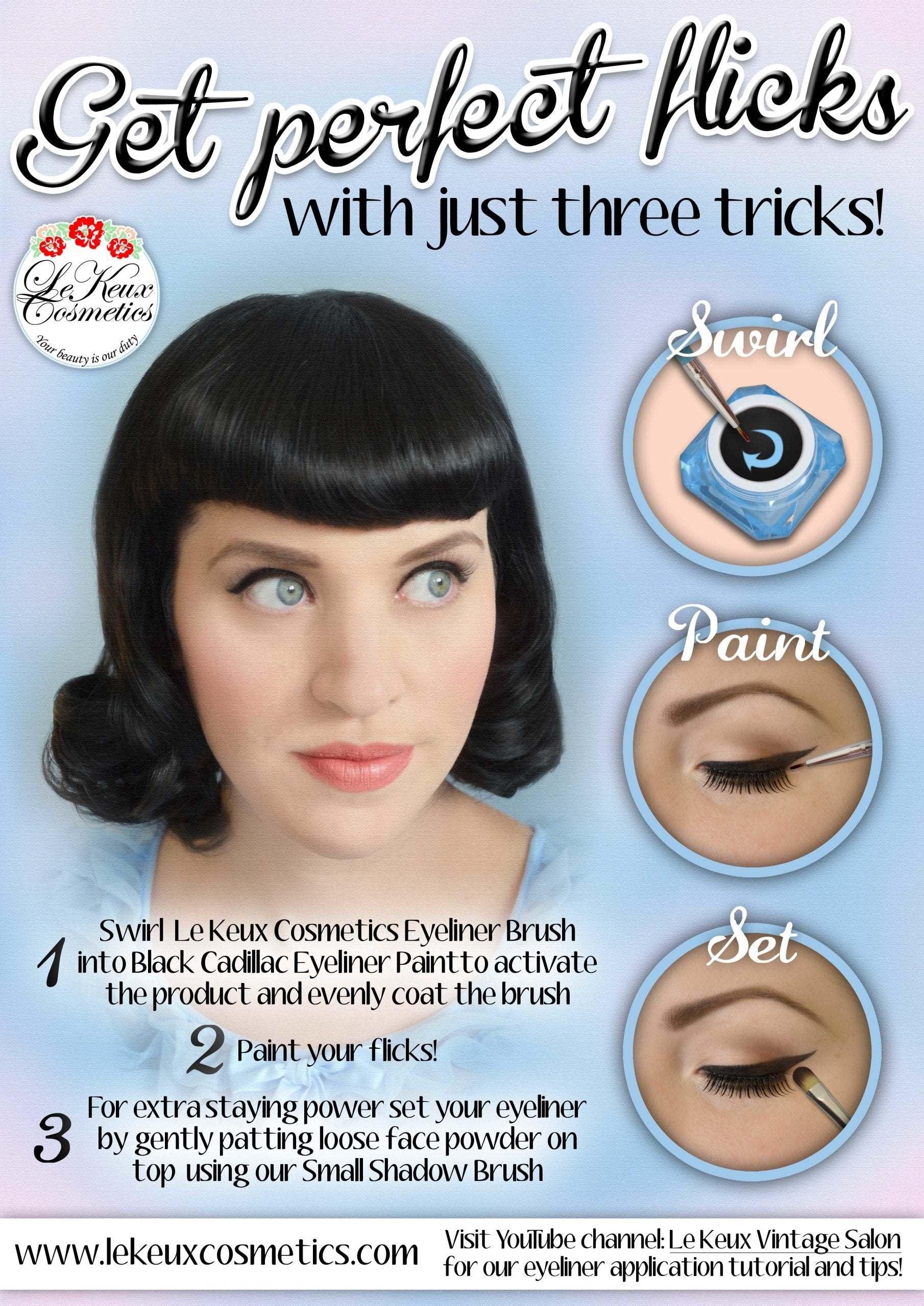 How to do Vintage Style Makeup : 1920s, 1930s, 1940s, 1950s Black Cadillac Eye Liner by Le Keux Cosmetics £13.99 AT vintagedancer.com