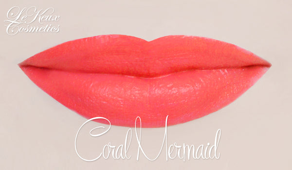 Coral Mermaid Lip Paint by Le Keux Cosmetics