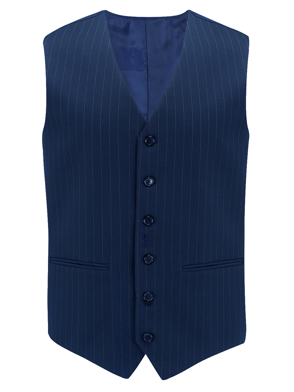 The Seamstress of Bloomsbury Mens Waistcoat in Navy Pinstripe, 1940's Vintage Style by The Seamstress of Bloomsbury - RocknRomance Clothing