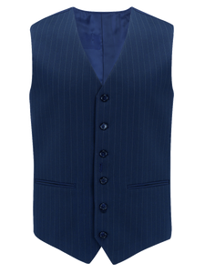 Mens Waistcoat in Navy Pinstripe, 1940's Vintage Style by The Seamstress of Bloomsbury - RocknRomance True 1940s & 1950s Vintage Style