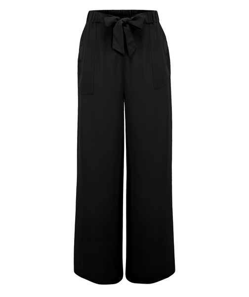 "seamstress of bloomsbury ""Winnie"" Loose Fit Wide Leg Trousers in Black, Authentic 1940s Style"