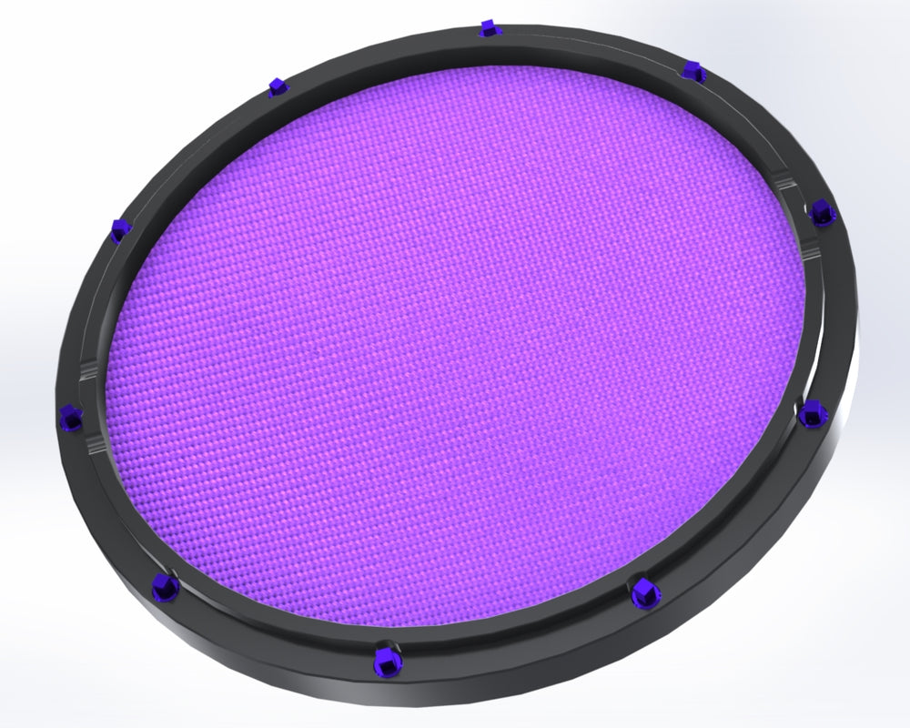 rcp drum 11 black double sided snare drum practice pad amethyst head rcp drum company. Black Bedroom Furniture Sets. Home Design Ideas