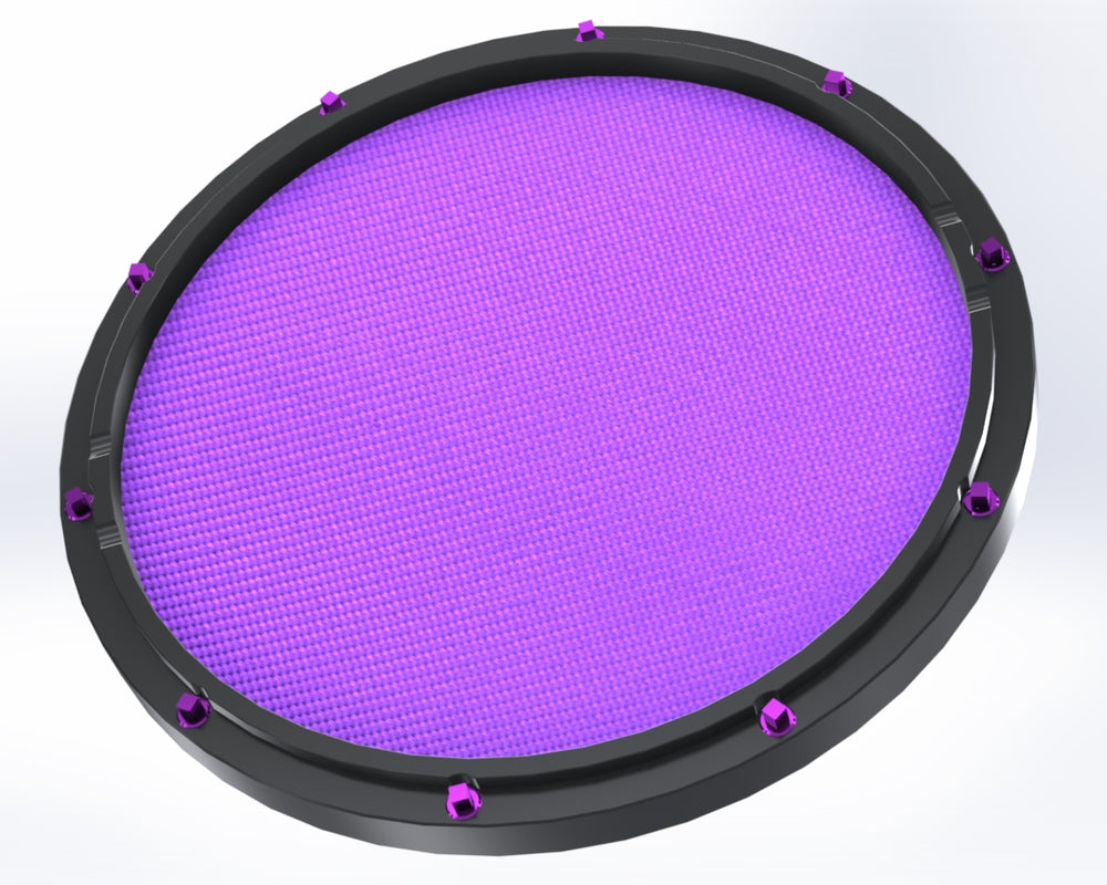 "RCP Drum Company Custom 13"" Black Double Sided Snare Drum Practice Pad Amethyst Head - RCP Drum Company"