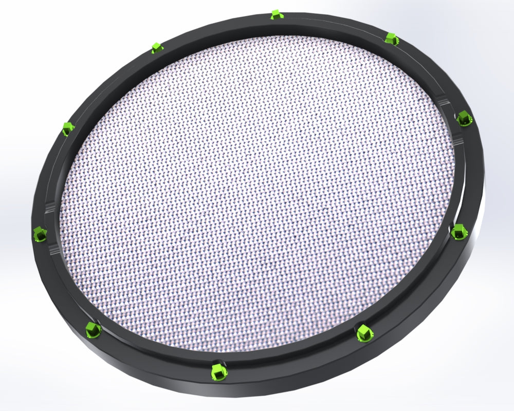 "RCP Drum Company Custom 13"" Black Double Sided Snare Drum Practice Pad Barracuda Head"