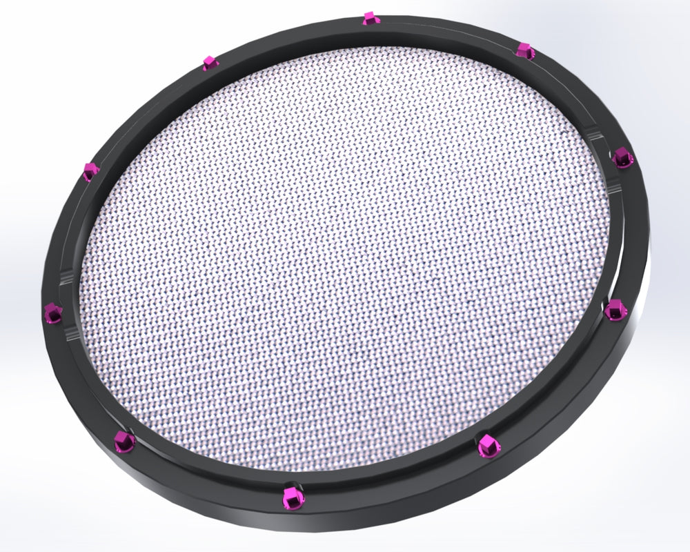 "RCP Drum Company Custom 11"" Black Double Sided Drum Practice Pad Barracuda Head - RCP Drum Company"