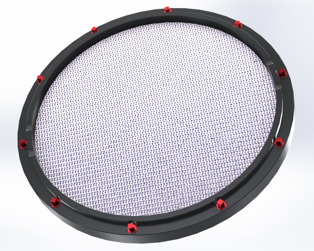 "RCP Drum Company Custom 11"" Black Double Sided Snare Drum Practice Pad Barracuda Head"
