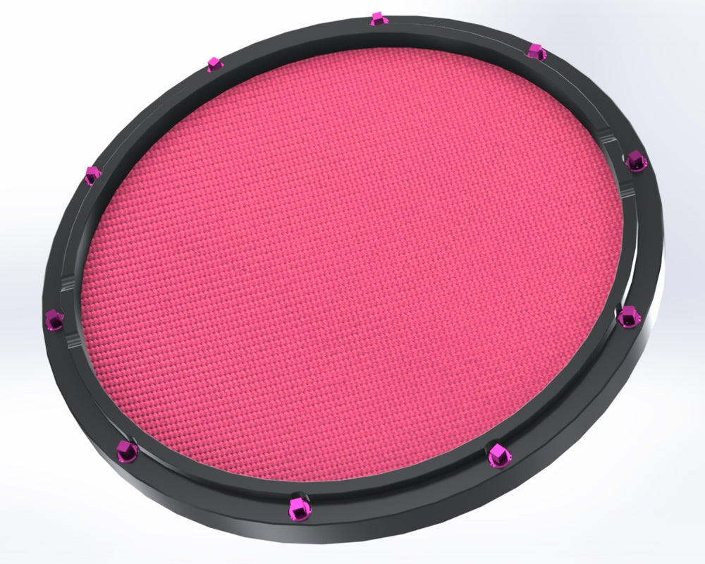 "RCP Drum Company Custom 13"" Black Double Sided Snare Drum Practice Pad Chili Pepper Head - RCP Drum Company"