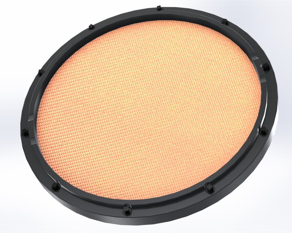 "RCP Drum Company Custom 11"" Black Double Sided Drum Practice Pad Crush Head - RCP Drum Company"