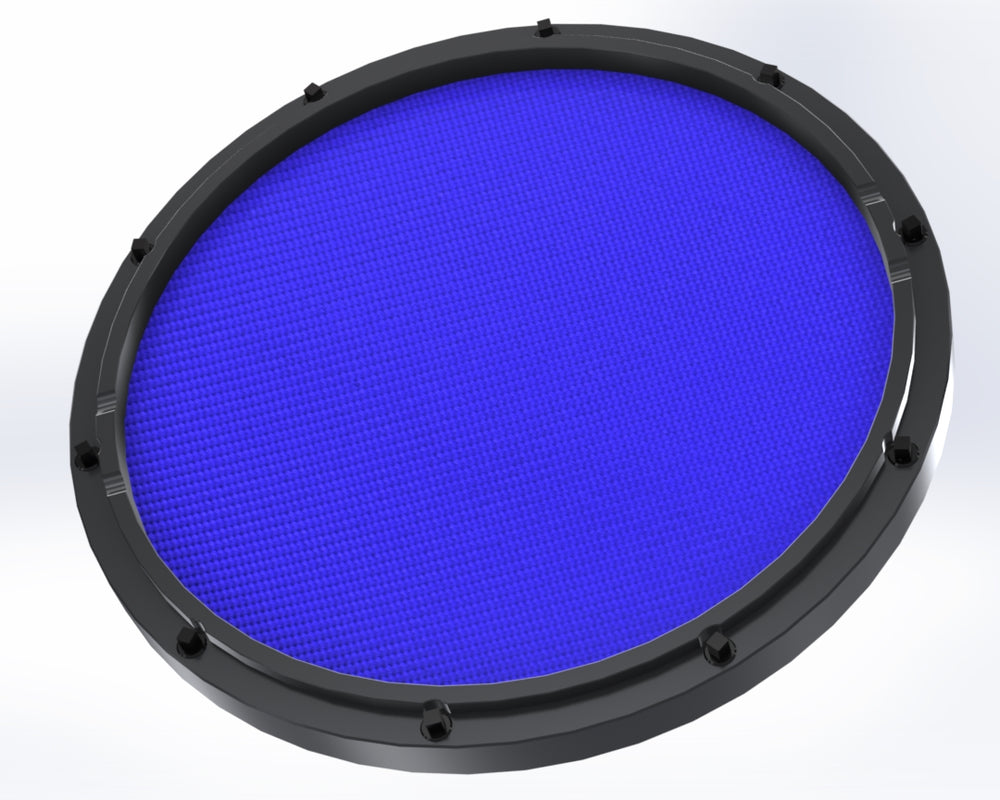 "RCP Drum Company Custom 13"" Black Double Sided Snare Drum Practice Pad Midnight Blue Head - RCP Drum Company"