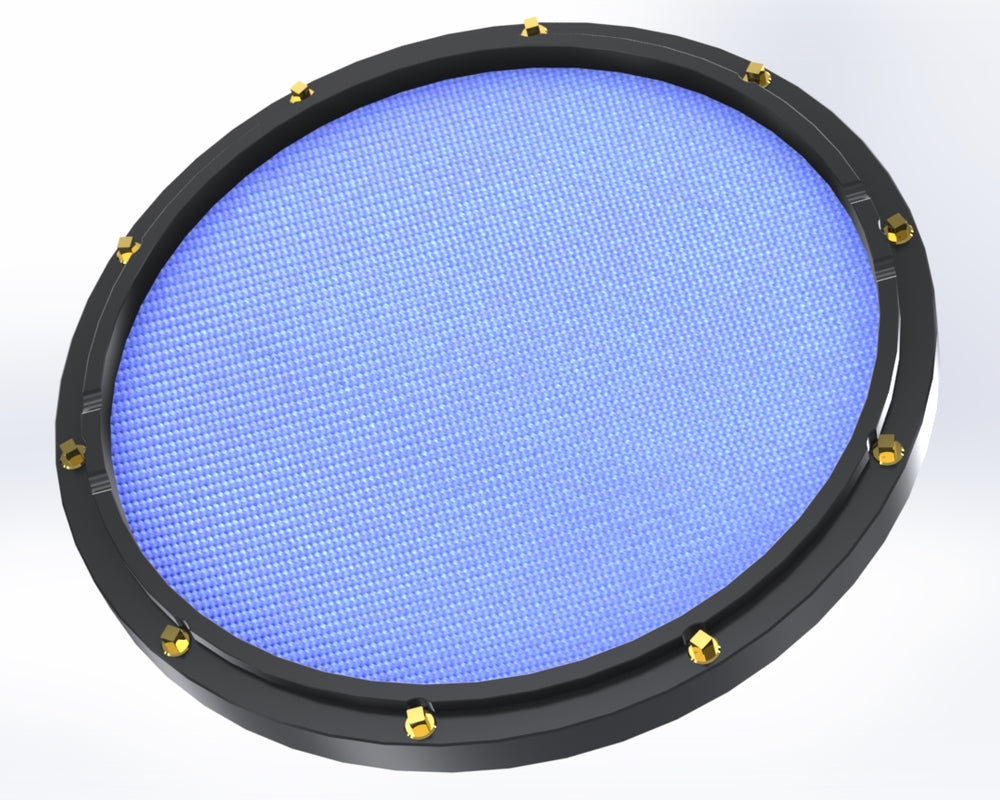 "RCP Drum Company Custom 11"" Black Double Sided Snare Drum Practice Pad Sky Blue"
