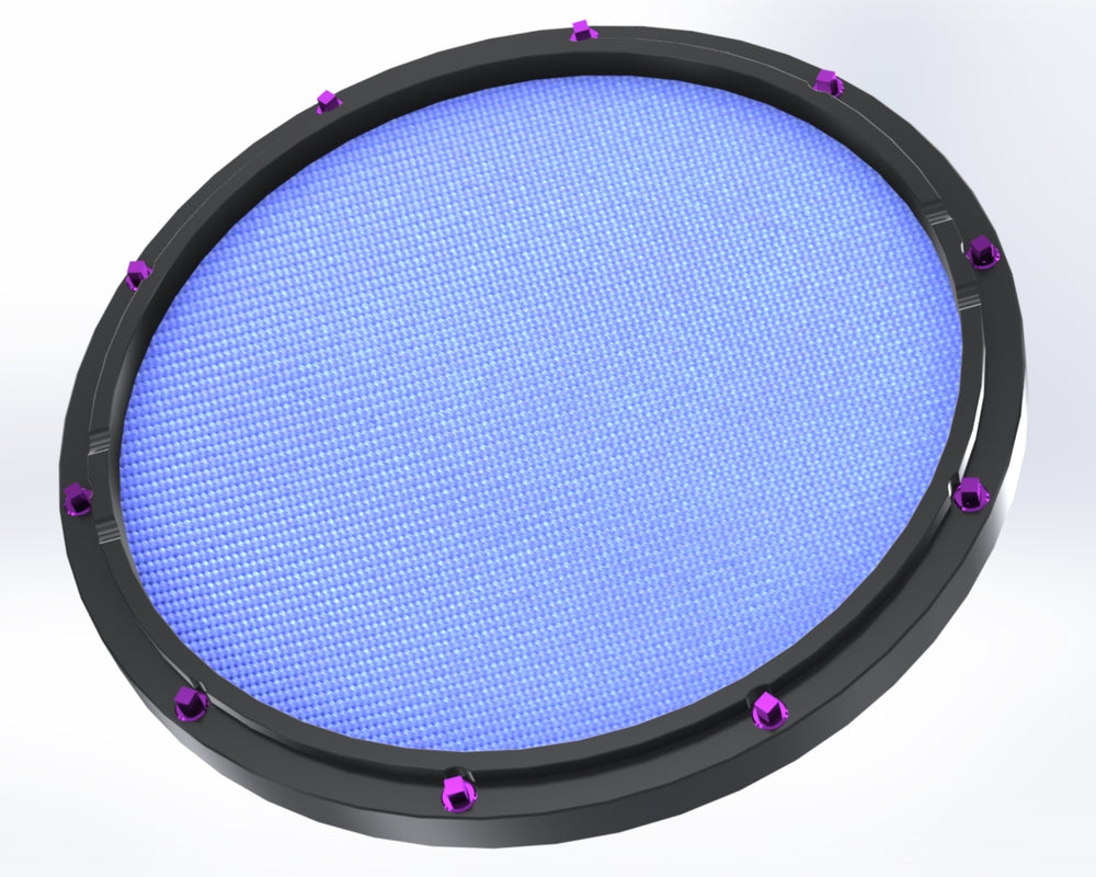 "RCP Drum Company Custom 11"" Black Double Sided Snare Drum Practice Pad Sky Blue - RCP Drum Company"