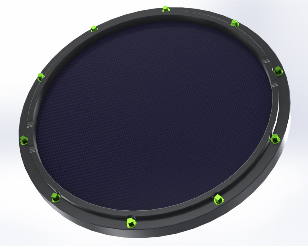 "RCP Drum Company Custom 13"" Black Double Sided Snare Drum Practice Pad Twilight Head"