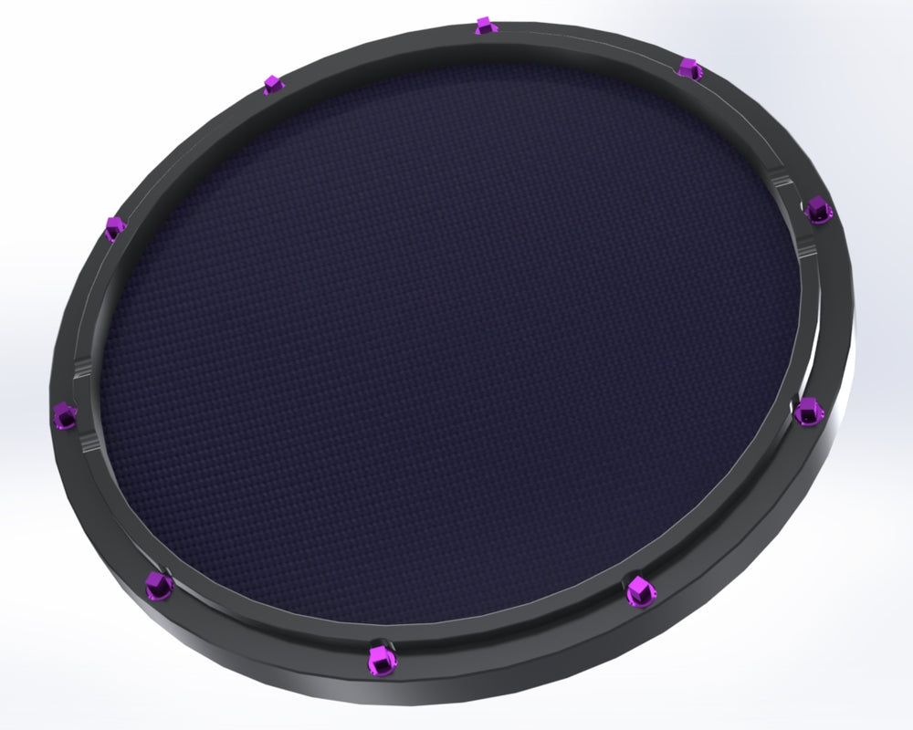 "RCP Drum Company Custom 13"" Black Double Sided Snare Drum Practice Pad Twilight Head - RCP Drum Company"