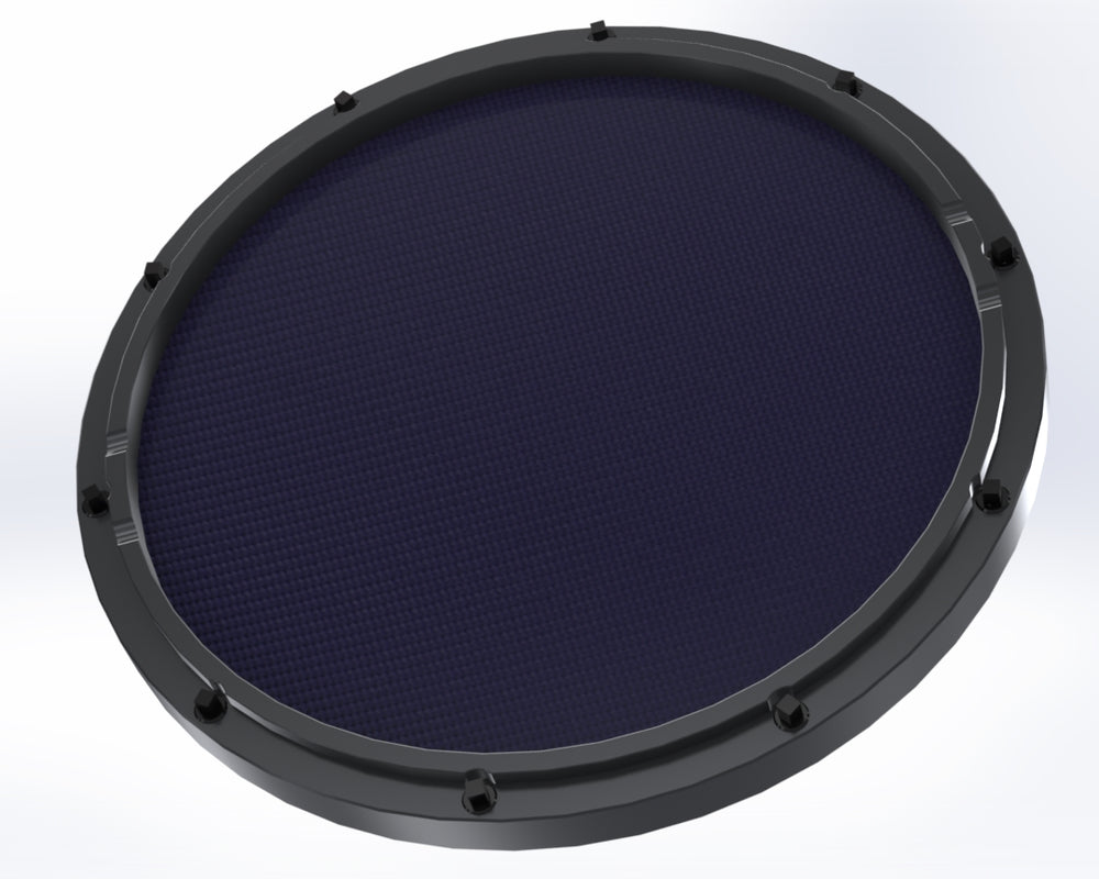 "RCP Drum Company Custom 11"" Black Double Sided Snare Drum Practice Pad Twilight Head - RCP Drum Company"