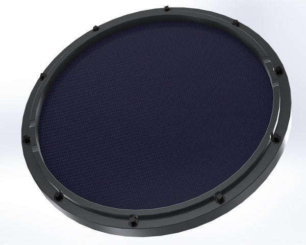 rcp drum custom 11 black double sided snare drum practice pad twilight head rcp drum company. Black Bedroom Furniture Sets. Home Design Ideas