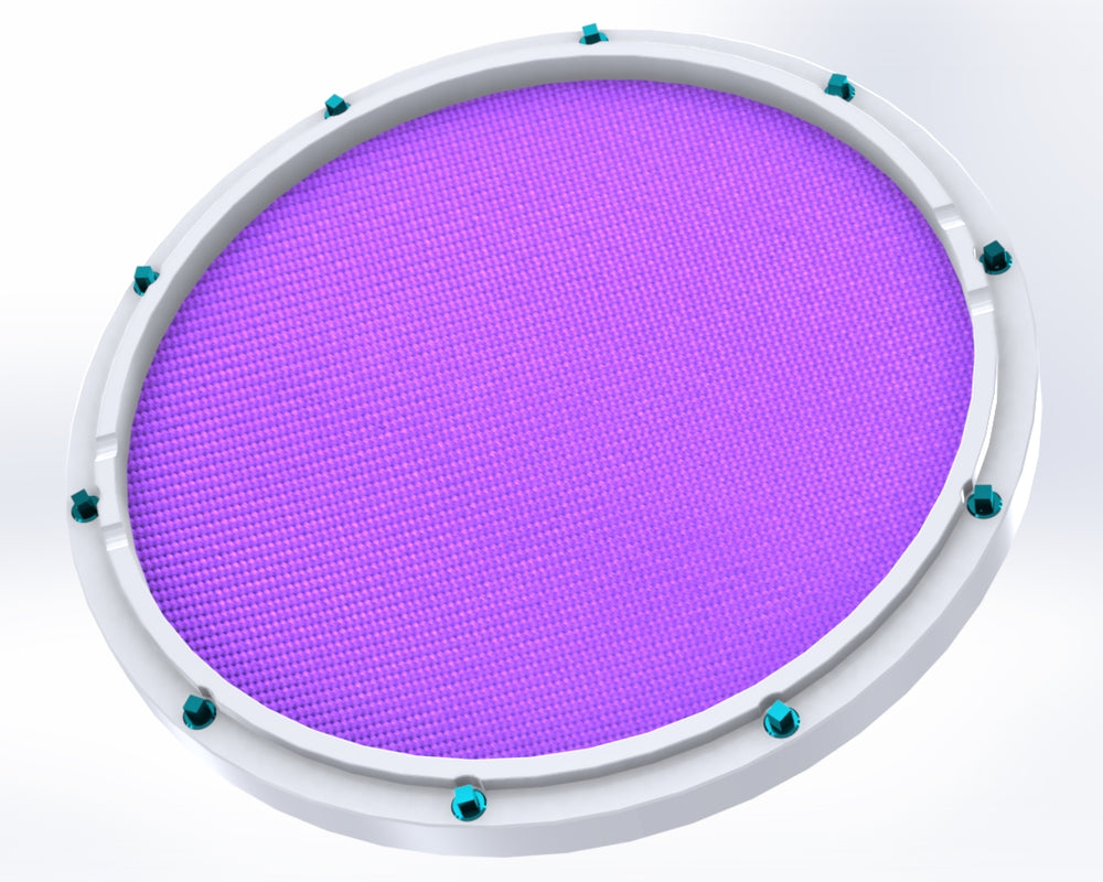 "RCP Drum Company Custom 13"" White Double Sided Snare Drum Practice Pad Amethyst Head - RCP Drum Company"