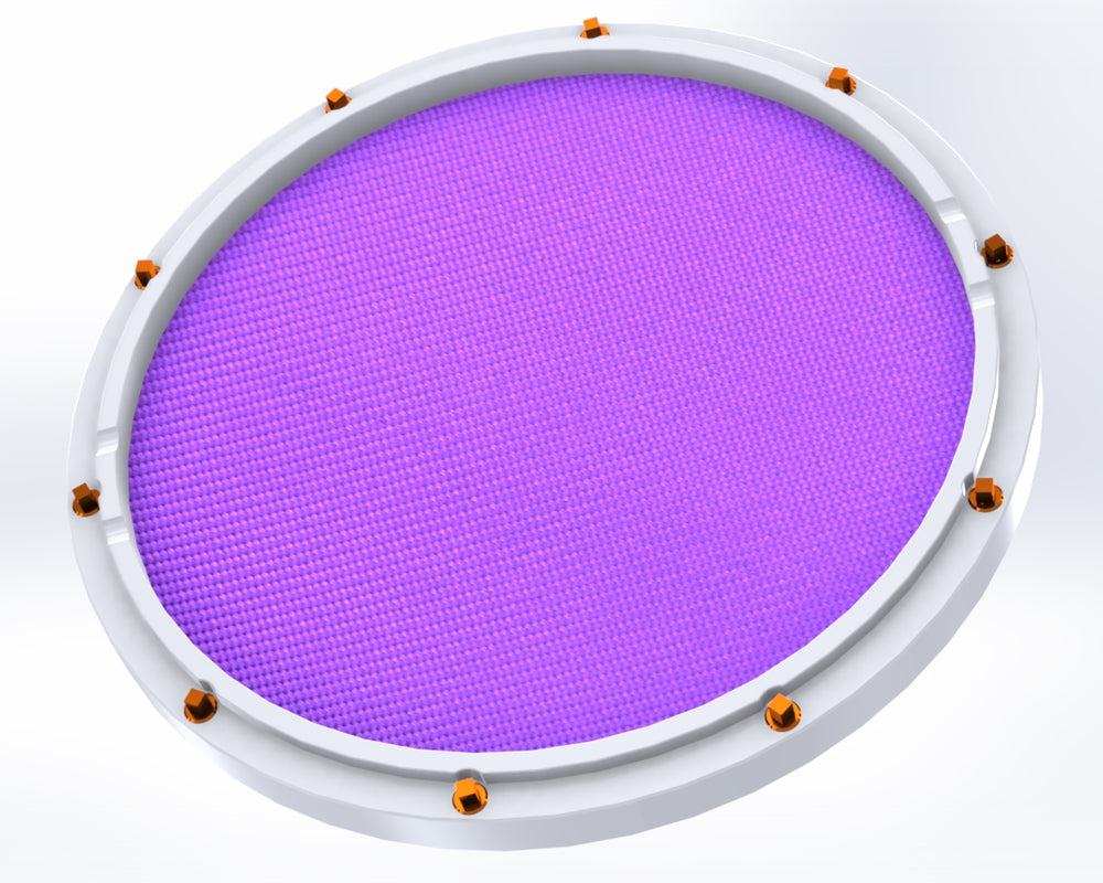 rcp drum custom 11 white double sided snare drum practice pad amethyst head rcp drum company. Black Bedroom Furniture Sets. Home Design Ideas