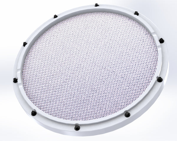 rcp drum custom 11 white double sided snare drum practice pad barracuda head rcp drum company. Black Bedroom Furniture Sets. Home Design Ideas