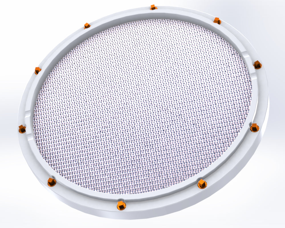 "RCP Drum Company Custom 13"" White Double Sided Snare Drum Practice Pad Barracuda Head - RCP Drum Company"