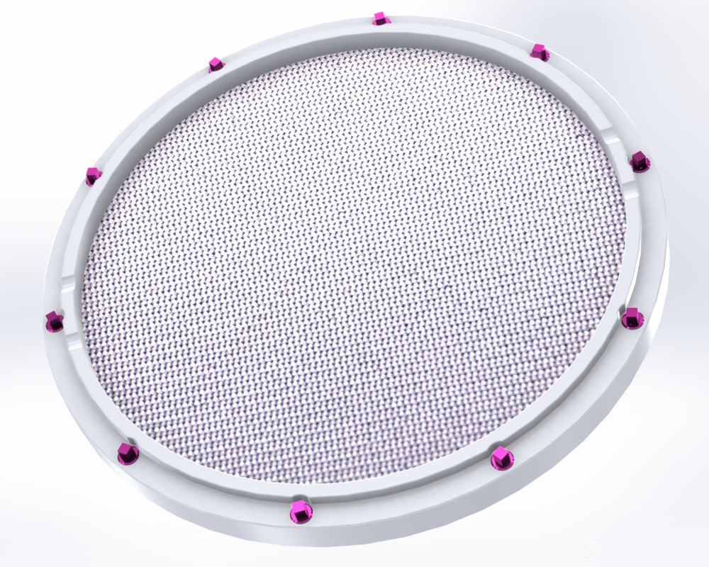 "RCP Drum Company Custom 11"" White Double Sided Snare Drum Practice Pad Barracuda Head - RCP Drum Company"