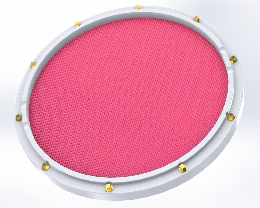 "RCP Drum Company Custom 13"" White Double Sided Snare Drum Practice Pad Chili Pepper - RCP Drum Company"