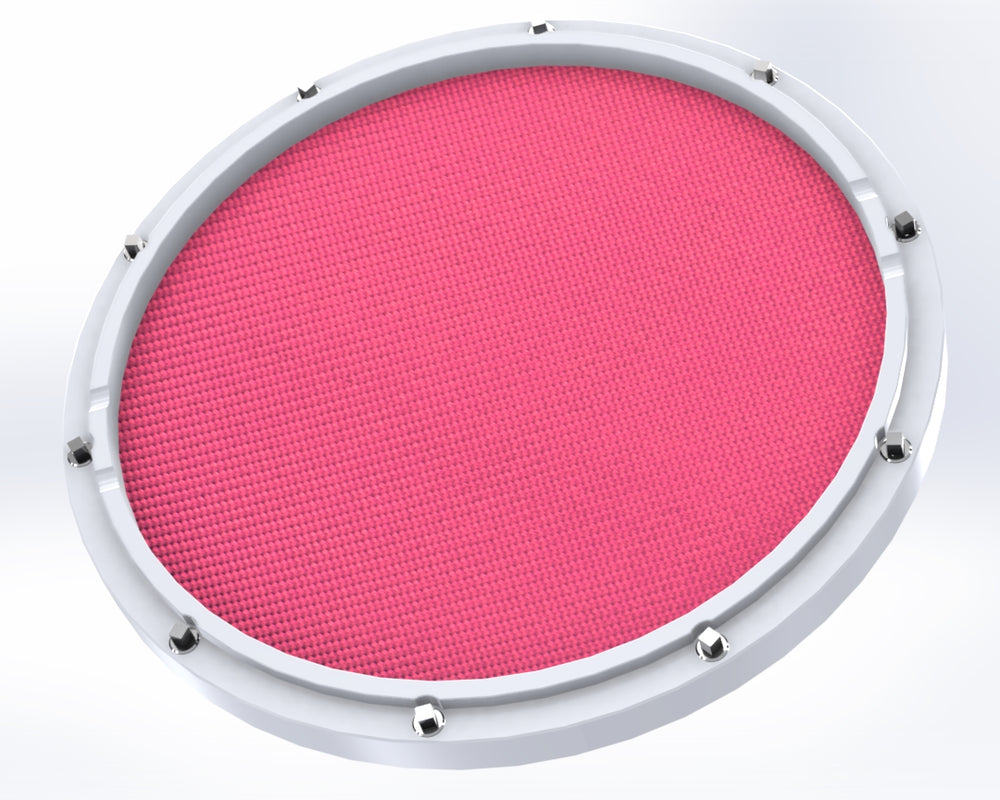 "Custom 11"" White Double Sided Snare Drum Practice Pad Chili Pepper Head"