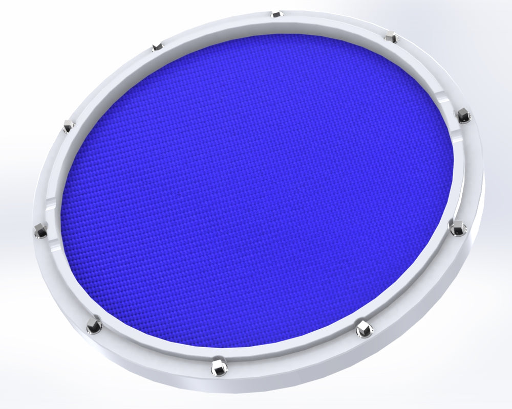 "RCP Drum Company Custom 13"" White Double Sided Snare Drum Practice Pad Midnight Blue - RCP Drum Company"