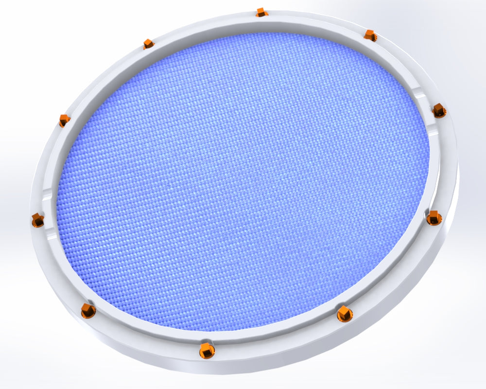 "RCP Drum Company Custom 11"" White Double Sided Snare Drum Practice Pad Sky Blue - RCP Drum Company"