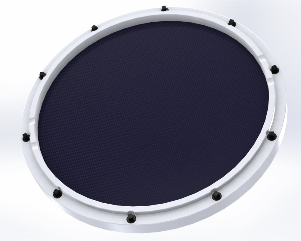 "RCP Drum Company Custom 11"" White Double Sided Snare Drum Practice Pad Twilight Head"